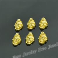 130 pcs Charms Skull Pendant  Gold color  Zinc Alloy Fit Bracelet Necklace DIY Metal Jewelry Findings JC572