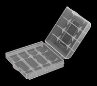 Wholesale 100pcs/Lot Accumulator aa / aaa Battery Storage Box Plastic Hard Case Battery Holder