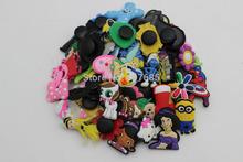 50Pcs/lot random  pvc shoe decoration,shoe charms fit shoes for children croc shoes(China (Mainland))