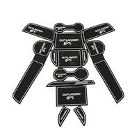 free shipping Non- slip Interior door pad/cup mat door gate slot mat auto accessories for 2013 2014 MITSUBISHI Outlander