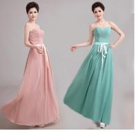 long design bride Bridesmaid dress pink formal dress