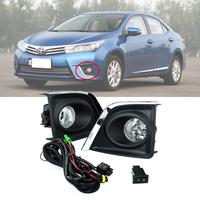 For Toyota 2014 Corolla Fog Lamp Kit Fog Light + Grille + Relay + Cable Combo Set Chrome Styling