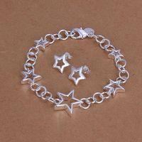 S176 925 sterling silver jewelry set, fashion jewelry set Heart Earrings Bracelet S176 /aljajcqa gbnaosua