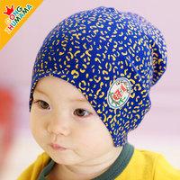 Spring and autumn Leopard children Hat baby Hat boys caps