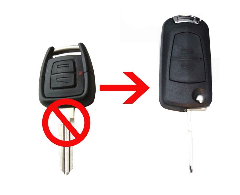 Vauxhall Opel Astra Vectra Zafira 2 Button CONVERSION Flip Remote Key Fob Case HU46 Blade(China (Mainland))