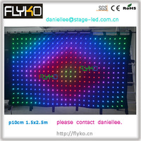 Free Shipping china suppier P10 full color indoor led video curtain