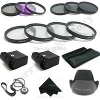 100% GUARANTEE 58MM Macro Close Up Set + UV CPL FLD/ ND 2 4 8 Filter Kit for Canon EOS 1100D 1000D 650D 600D 18-55mm Lens + Hood