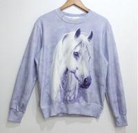 White Horse Tide 3D Printed Sweater For Women Men Sweatshirts Tops Long Sleeve