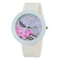 2015 New Fashion Women Quartz Watch Butterfly Casual Rhinestone Watches Fashion silicone watch -5