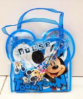 Free shipping 240sets/lot Fashion Mickey Mouse Student Stationery Set Cartoon Kids School Set G4126 Wholesale
