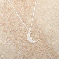 30pcs/lot New Jewelry Gold Silver Crescent Moon Necklace