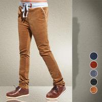 Mens Corduroy Pants Autumn Winter Plus Size Casual Slim Pants Size M-XXXXXL Drawstring Constrated Waistline Pants Good Quality