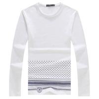 Man Big Yard Tshirt Plus Size Men's Print Long-sleeve T-shirts Top Tees Good Quality Size M- XXXXXL XXXXXXL Brand Clothings
