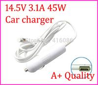Top Quality 14.5V 3.1A 45W Car Charger For MACBOOK AIR A1244 A1374 A1369 A1370 A1269 A1237 A1304 Series