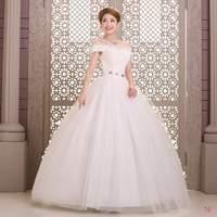 Fashion Wedding Dresses Floor Length Bridal gown Strapless Crystal Ball Gown Natural Vestido de noiva X027