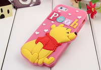 1pc/lot arrival cute cartoon Stitch Mike Pooh Minnie Mickey Sulley silicon Cover case for iphone 6 6 plus 4.7/5.5 case cover