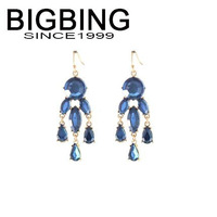 BigBing Fashion Water drops blue tassels exaggerated Earrings fashion earring fashion jewelry nickel free Free shipping! j997