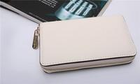 30PCS Hot  Genuine Leather original Michaeled Zipper bag Cross pattern wallet case for  5/5G/5S 4/4S wih retail box-p6