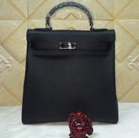 2015 new Brand name H Cowhide leather backpack  handle bag Shoulder Bag multifunctional travle backpacks genuine leather  bag