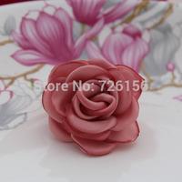 120pcs/lot Matte satin Layered Poppy Flower hairband accessories Flat Back