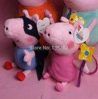 High Quality 19CM Magical Princess Fairy Peppa Pig & Super Masked George Pig Plush Soft Toys Stuffed Pepa Dolls Baby Kids Gifts