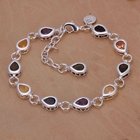 Free shipping 925 sterling silver jewelry bracelet fine fashion rose bracelet top quality wholesale and retail SMTH260
