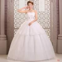 Vintage Wedding Dresses Crystal Bridal gown Back Lace Up Strapless Ball Gown Sweatheart Floor Length Vestido de noiva X032