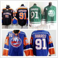 Wholesale Cheap Men's New York Islanders Hockey Jerseys #91 John Tavares Jersey Team Color Home Royal Blue Sport Stitched Jersey