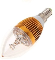 2014 High quality E14 E27 15W LED Candle Light Spot Light bulb lamp gold/silver dimmable 5x3W 85-265V 2year Warranty