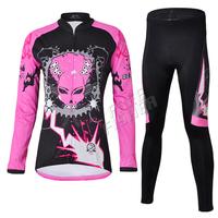 Winter Windproof Fleece Thermal Cycling women Long Sleeve Jersey Cycling Pants