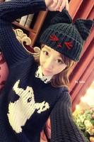 2014 Winter fashion caps women's cute  woolen cat ears beret