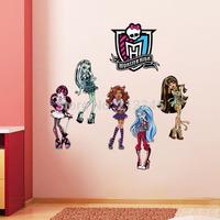 [Saturday Mall] - Monster High cartoon children wall stickers school nursery classroom wall decor decals stickers kids grow 1091