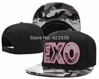 EXO camo Snapback hats flower floral adult's fashion new mens womens baseball caps hip-hop cap Free Shipping