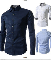 2014 hot sale Free Shipping New Mens Shirts Casual fashion Slim Fit Stylish Mens Dress Shirts