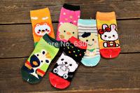 new winter thick socks children  baby socks plush cartoon coral velvet 4-7 years old