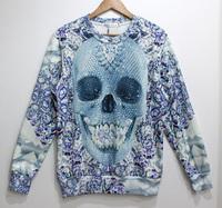 Diamond Skull Tide 3D Printed Sweater For Women Men Sweatshirts Tops Long Sleeve