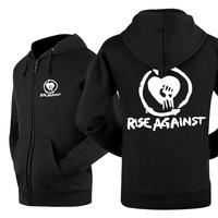 2014 new winner autumn hot sell classics zipper LEISURE WEAR lover`s hoodie rise against