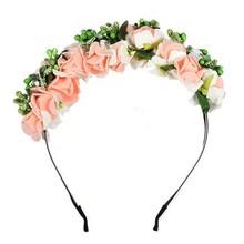 New Arrive Women Flower Boho Floral Headband Garland Party Festival Wedding Bridal Hairband