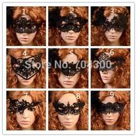 Sexy Women Lace Face Eye Black Mask Hollow Fancy Dress Venetian Carnival