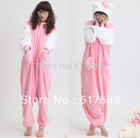 Fleece Cosplay Pajama Sets Women Couple Clothes Family Anime Pyjama Pajama Womens Sleepwear Kitty Cat Pajamas Animal Onesies