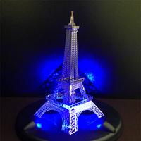 LED Lighting Show + 3D Eiffel Tower Model DIY Jigsaw Kids Toy Flashing 3D Metal Puzzles
