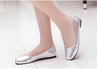 free shipping 2014 new fashion  spring and autumn snout shoes with flat shoes