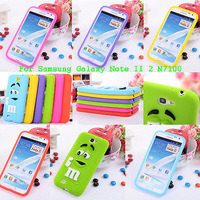 NEW Fashion 3D Cute Lovely Silicone Case for Samsung Galaxy Note2 II N7100