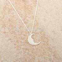 Wholesale 12pcs/lot Gold Silver Simple Tiny Crescent Moon Charm Pendant Necklace Chocker Necklace