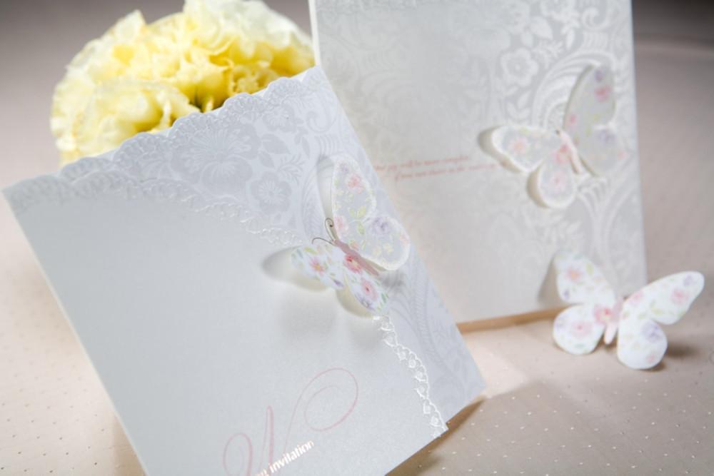 50pcs/lot personalizado e primavera impressão borboleta tri- casamento vezes cartão de convite cartão de convites festa w1134(China (Mainland))