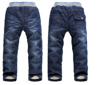 SKZ-309 Free Shipping New Arrival KK-Rabbit Boys Thick Winter Warm Pants Children Fashion Trousers Infants Jeans In Stock Retail