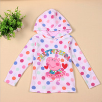 peppa pig coat children coat girl coat jacket Girls cotton long-sleeved fleece hat thick baby coat 2-6y