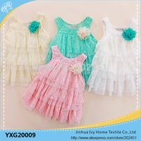 201 5Sunshin Girls Sleeveless Dress Baby Lace Shirt  Wholesale Cheap Clothes Summer Dress