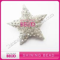 crystal star brooch pins for wedding invitations