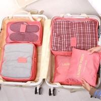 BF050 Fashion foldable travel bag  clothing bag underwear finishing storage bag 5pcs/set free shipping